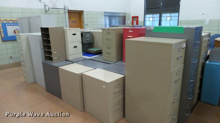 Approximately 40 filing cabinets