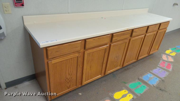 (2) base cabinets