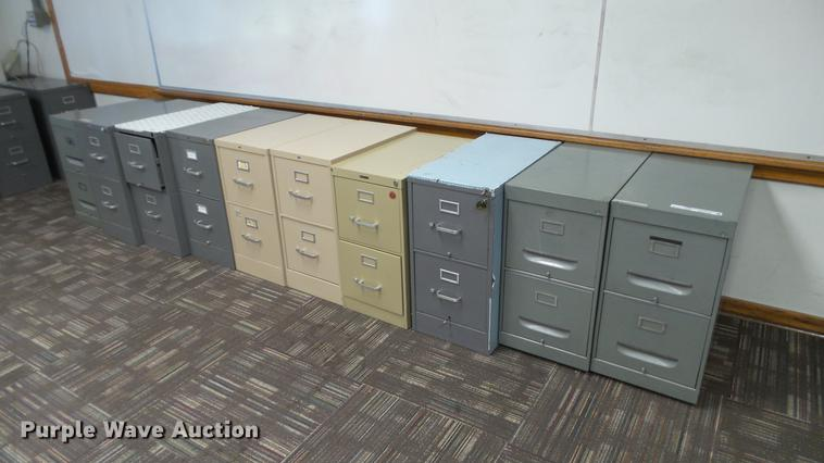 Approximately 30 filing cabinets