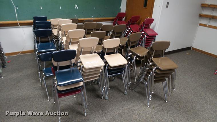 Approximately 100 plastic chairs