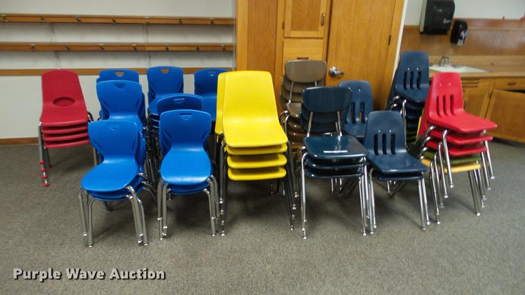 Approximately 50 plastic chairs
