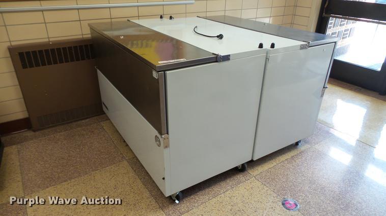 (2) Beverage Air milk coolers