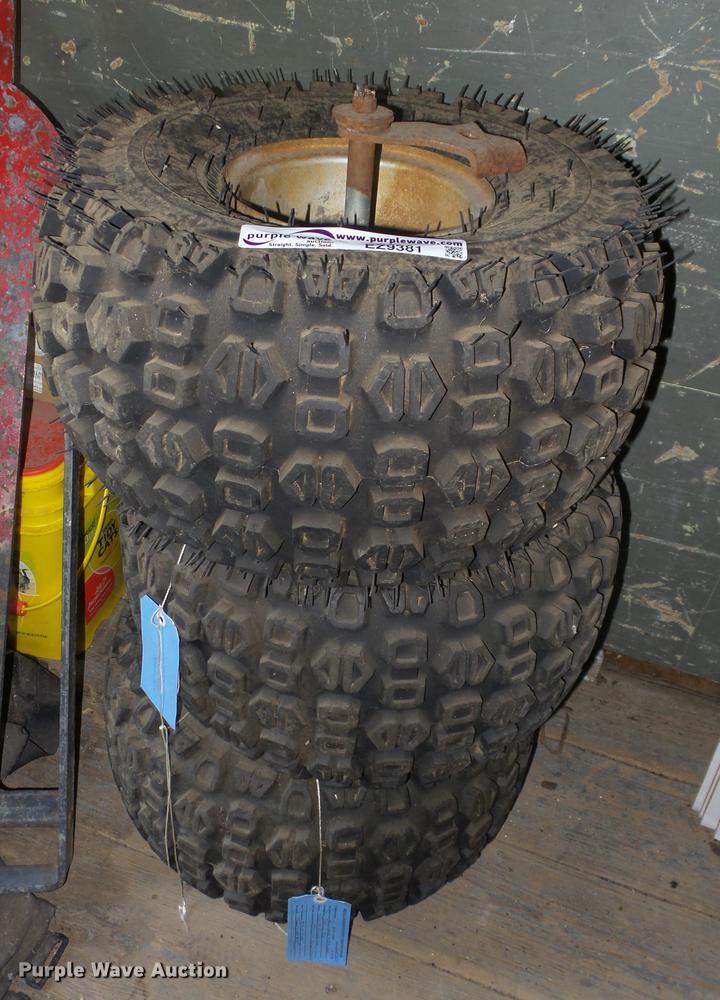 (3) AT22x11-8 ATV tires and wheels
