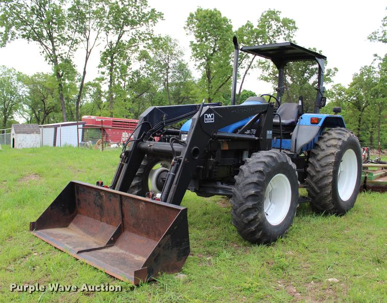 2001 New Holland TS110 MFWD tractor