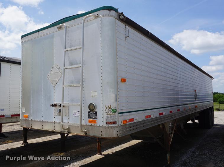 1990 Timpte double hopper bottom grain trailer