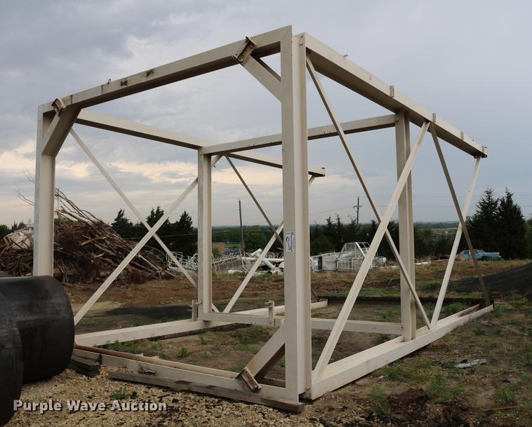 Structural steel storage bin frame