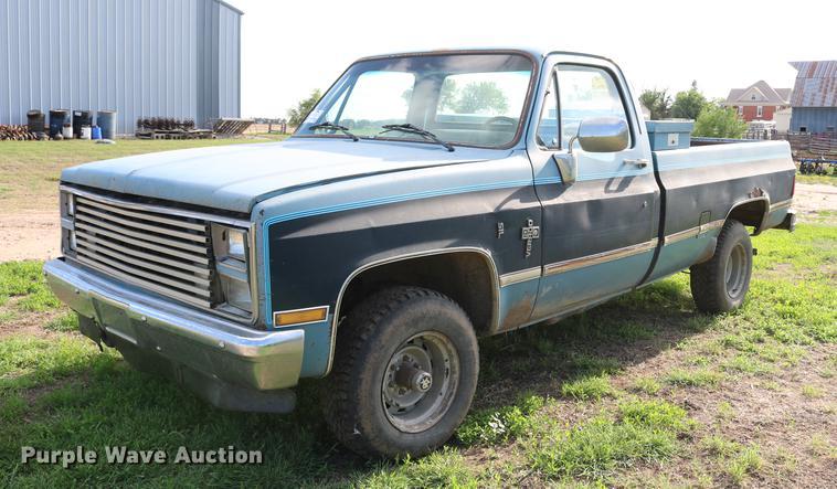 1984 Chevrolet Silverado K10 pickup truck