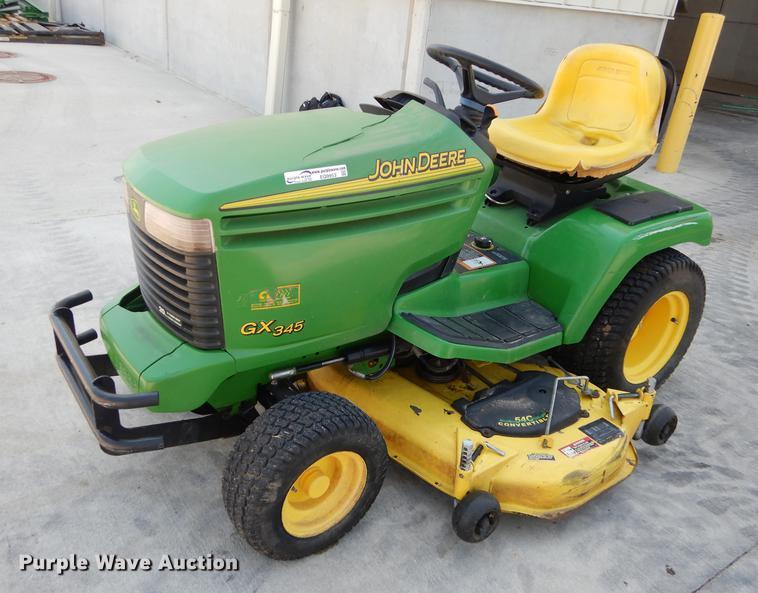 John Deere GX345 lawn mower