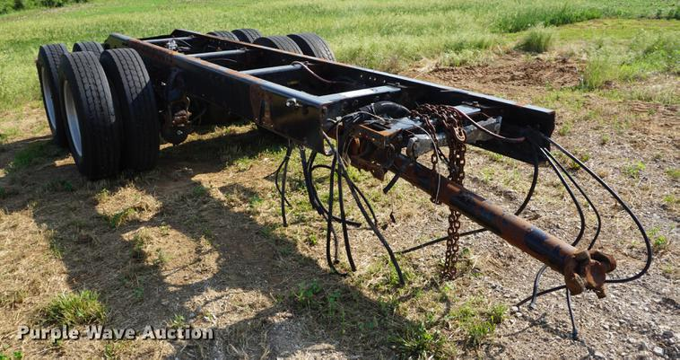 Rear drive frame and axles