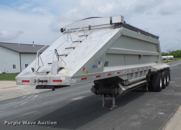 2001 Travis AL-30 bottom dump trailer