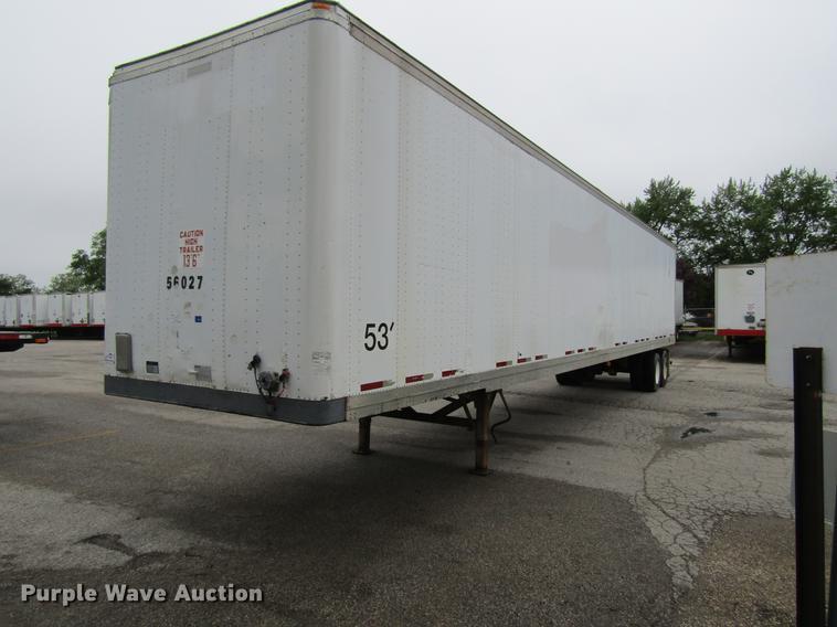 2000 Fruehauf dry van trailer