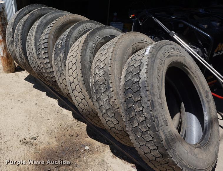 (8) 275/80R24.5 tires