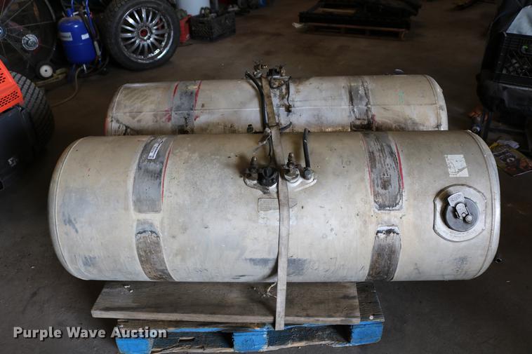 (2) Peterbilt aluminum fuel tanks