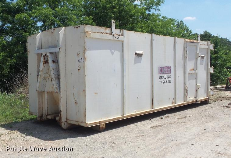 Roll-off/hook lift steel storage container