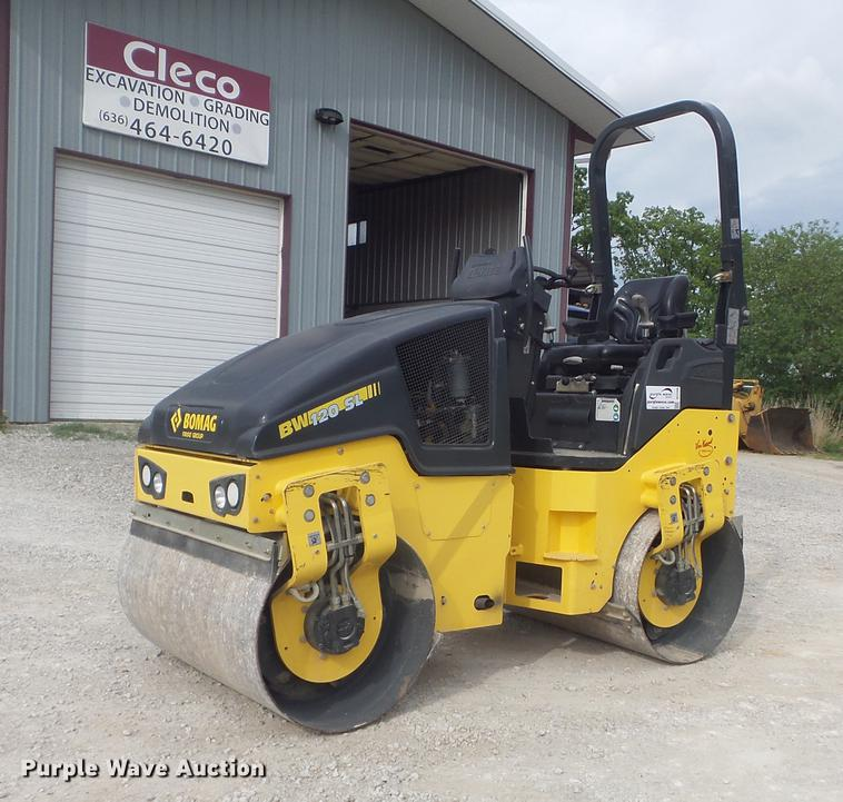 2015 Bomag BW120SL-5 double drum vibratory roller