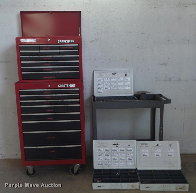 Craftsman toolbox with cart