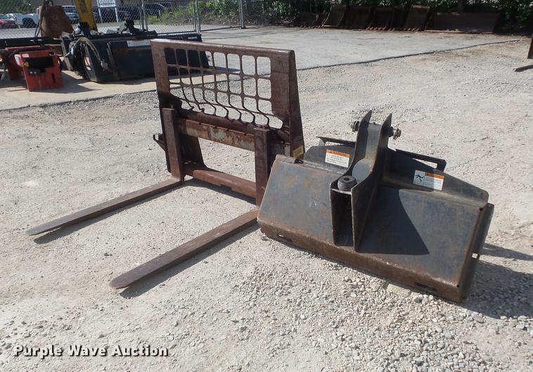 (2) skid steer attachments