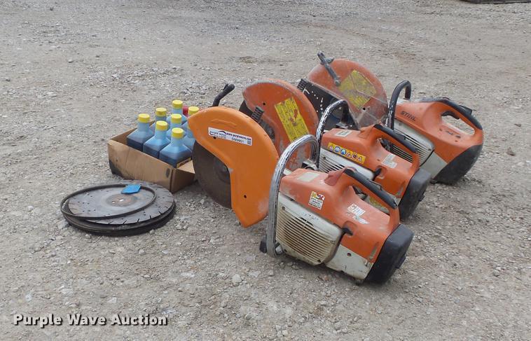(3) Stihl cut-off saws