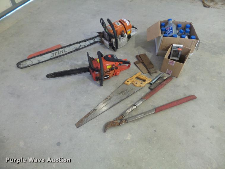 (2) chainsaws