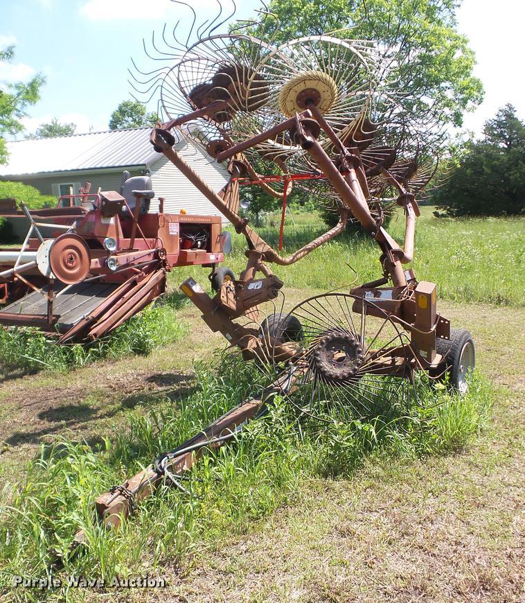 M&W eight wheel hay rake