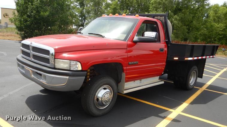 1995 Dodge Ram 3500 Laramie SLT dump flatbed pickup truck