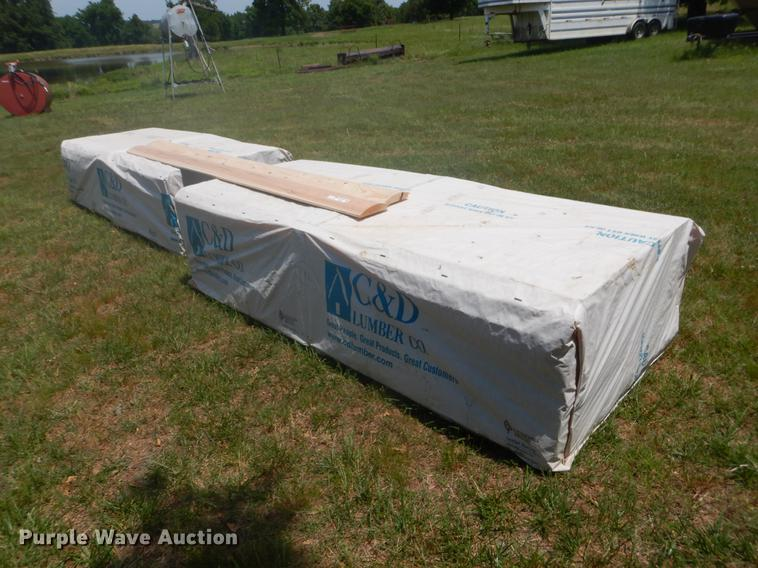(2) bundles log siding