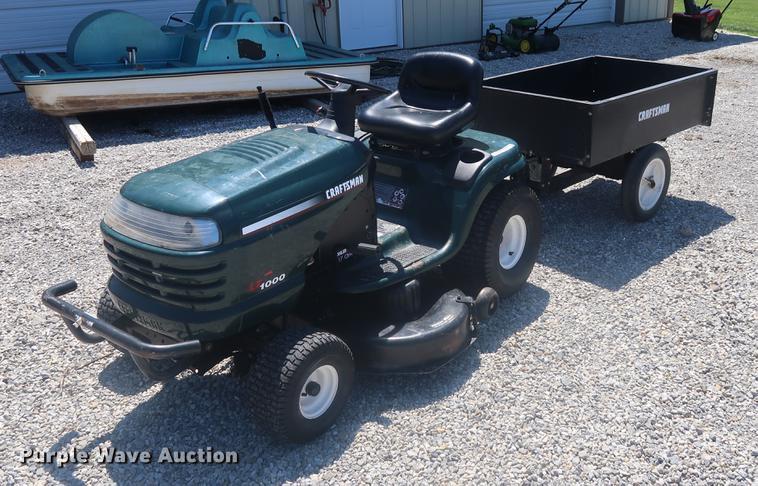 Craftsman LT1000 lawn mower