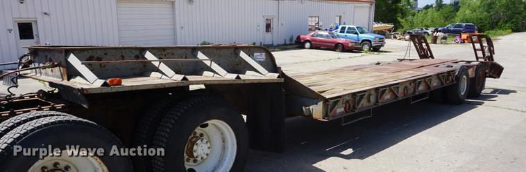 1966 Dorsey HTS-25 low boy equipment trailer