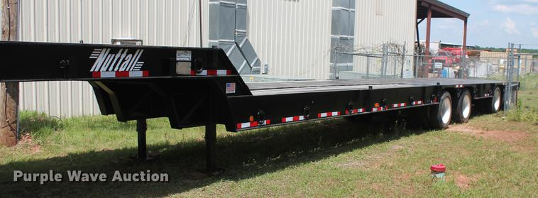 2005 Nuttall 460LB drop deck equipment trailer