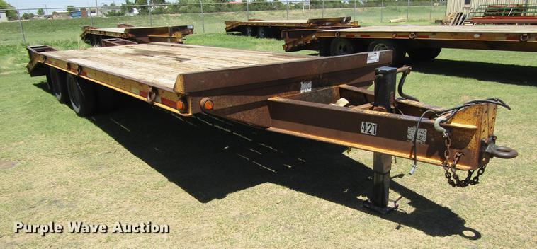 2001 Belshe DT22 equipment trailer