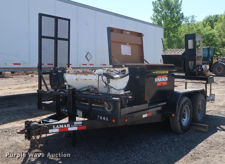 2009 Lamar utility trailer with mud jack system