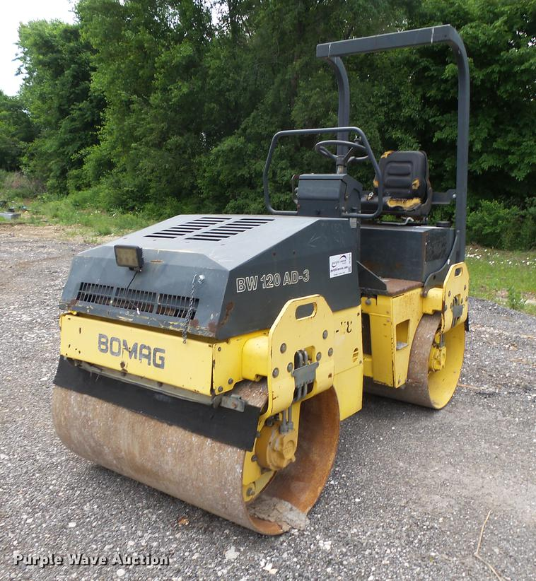 1995 Bomag BW120AD-3 double drum vibratory roller