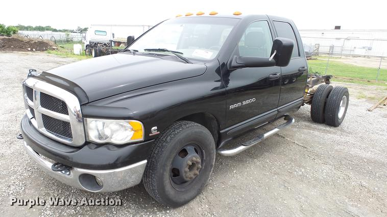 2004 Dodge Ram 3500 Quad Cab pickup truck cab and chassis