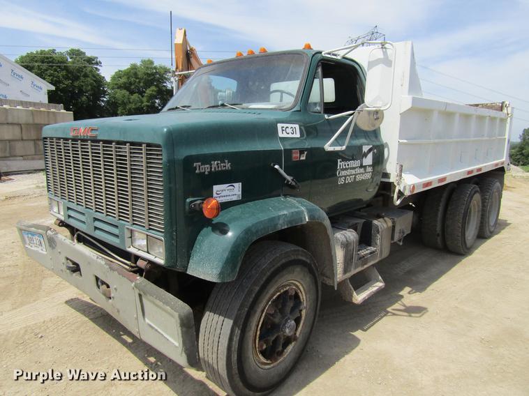 1989 GMC C7000 dump truck
