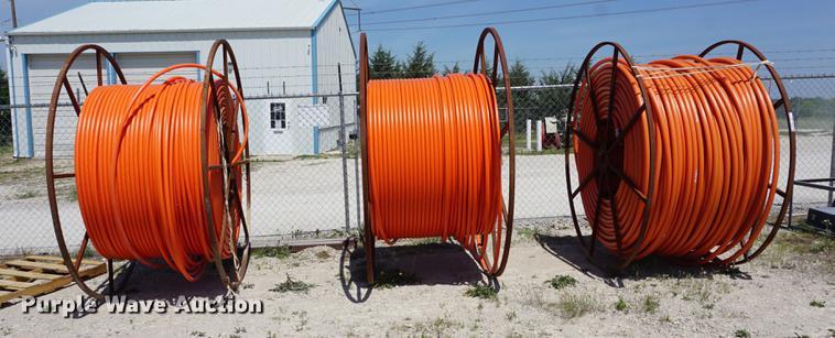 (3) partial spools of conduit