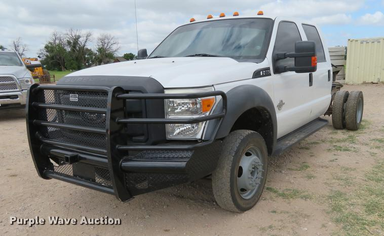 2011 Ford F550 Crew Cab truck cab and chassis