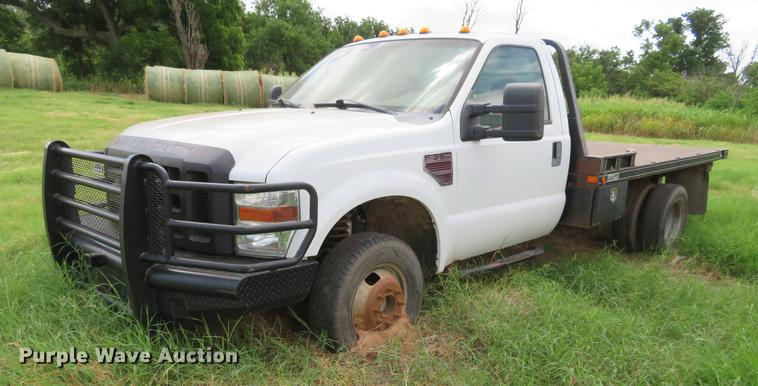 2008 Ford F350 Super Duty bale bed pickup truck