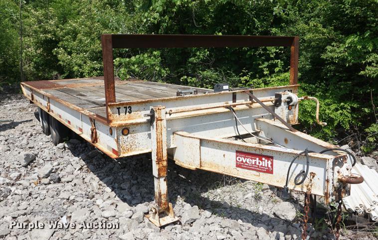 2003 Overbuilt tilt deck equipment trailer