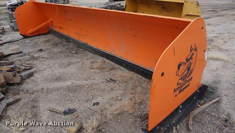 Buyers Scoop Dog bucket mounted snow pusher blade