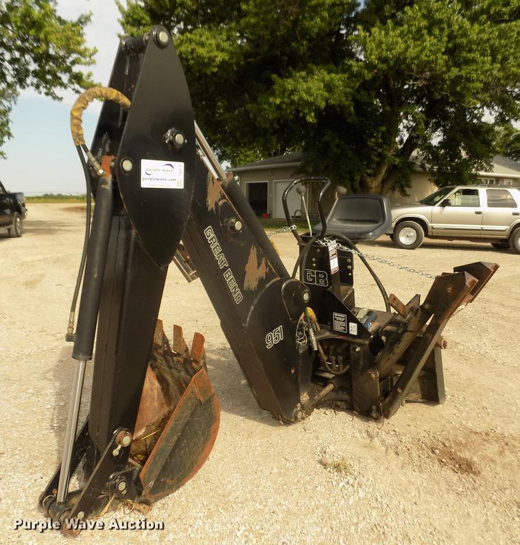 Great Bend 951 skid steer backhoe attachment