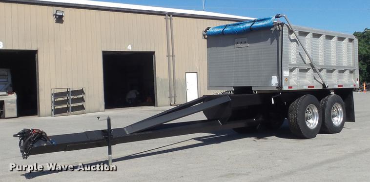2000 Ravens 112A5454 dump body with 1967 Fruehauf end dump trailer