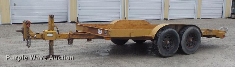 1980 Butler LT-1014 tilt deck utility trailer