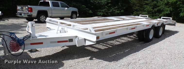 1989 Brooks Brothers tilt deck equipment trailer