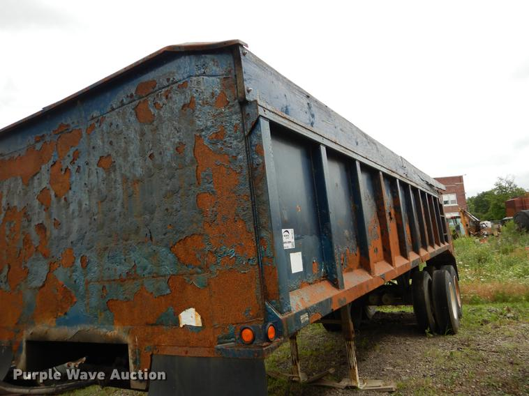 1974 Hilbilt end dump rock trailer