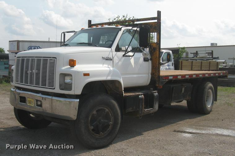 1992 GMC TopKick 6500 flat dump bed truck
