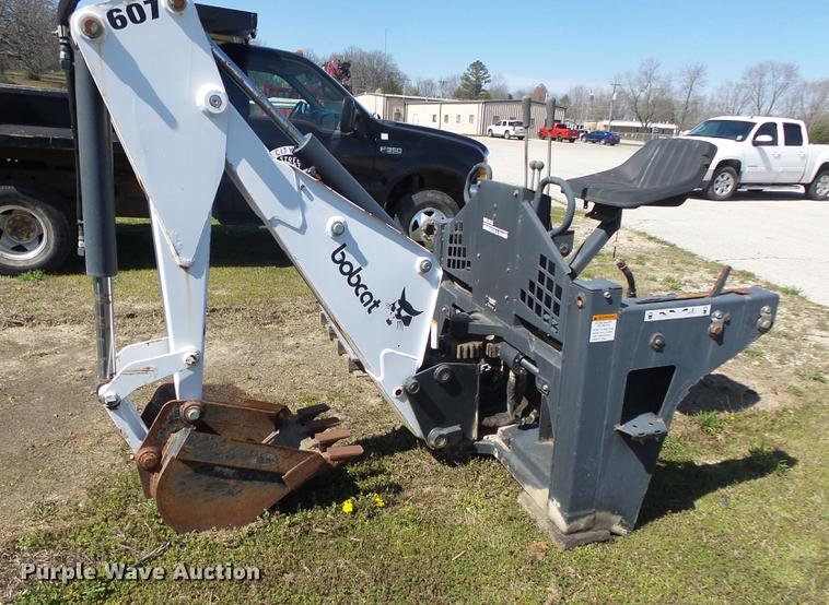Bobcat 607 skid steer backhoe attachment