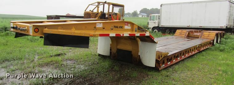 1997 Trail King TK80HDG463 lowboy equipment trailer