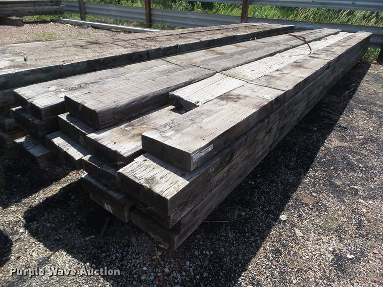 Approximately 20 bridge timbers