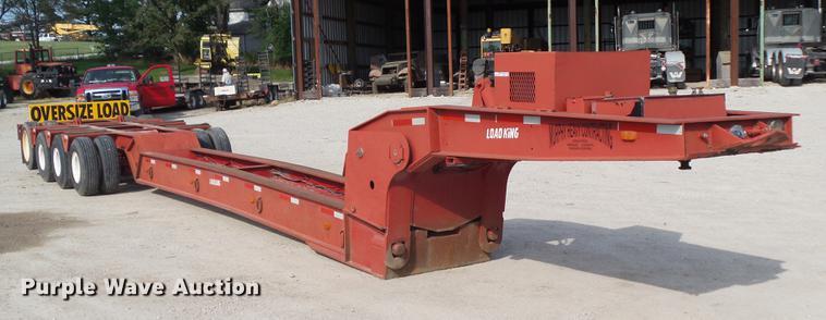 1982 Load King 503/504 DDBP low boy equipment trailer