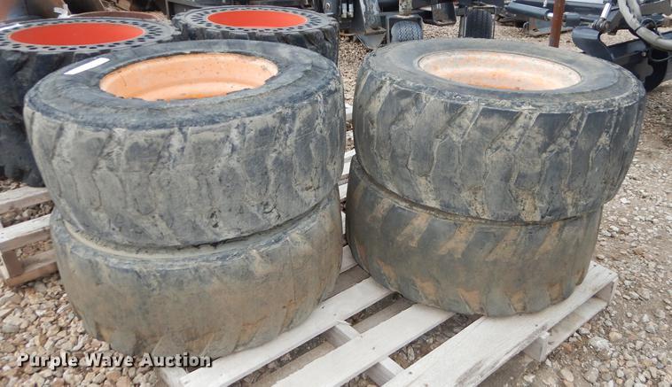 (4) Galaxy 12 x 16.5 foam filled tires